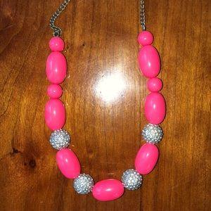 J crew necklace neon pink 🏄🏻♀️